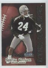 1998 Fleer Tradition Rookie Sensations 15RS Charles Woodson Oakland Raiders Card