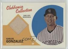 2012 Topps Heritage Clubhouse Collection Relic #CCR-CGO Carlos Gonzalez Card