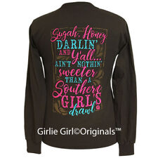 "Girlie Girl Originals ""Southern Girls"" Dark Chocolate Long Sleeve T-Shirt"