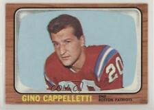 1966 Topps #4 Gino Cappelletti New England Patriots Football Card