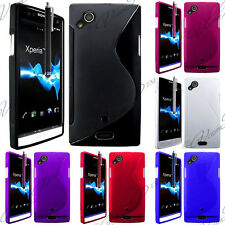 CASE COVER COVERS TPU S SILICONE GEL FILMS SONY XPERIA X12 ARC S/ LT15I/ LT18I