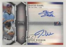 2011 Bowman Sterling #BSDA-DW David Dahl Jesse Winker Auto Rookie Baseball Card
