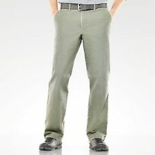 Dockers Khaki Mens Pants Slacks D2 Straight Fit Flat Front Gray
