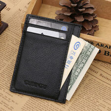 Men's Leather Money Clip Slim Wallet ID Credit Card Holder Case Purse New Fast
