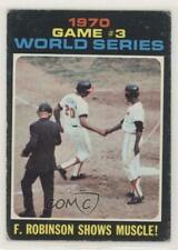 1971 Topps #329 World Series Game #3: F Robinson Shows Muscle! Baltimore Orioles