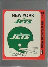1978 Fleer Team Action Hi-Gloss Patches Blank Back #NYJH New York Jets Helmets