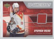 2006 Upper Deck UD Game Jersey #J-SW Stephen Weiss Florida Panthers Hockey Card