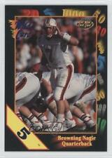 1991 Wild Card Draft 5 Stripe #64 Browning Nagle Louisville Cardinals Football