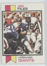 1973 Topps #49 Jim Files New York Giants RC Rookie Football Card
