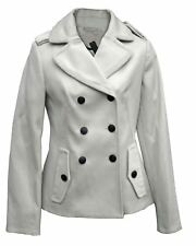 YEN Womens Cream Double Breasted Jacket Winter Short Coat Ladies NEW