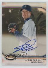 2012 Topps Finest Autographed Rookies Refractor #AR-JT Jacob Turner Auto Card