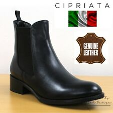 """Cipriata """"Bianca"""" Ladies Black Nappa Leather Twin Gusset Chelsea Boots Womens"""
