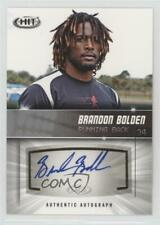 2012 SAGE Hit Autographs Silver #A98 Brandon Bolden New England Patriots Auto