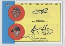 2012 Topps Heritage Minor League Edition ROD-RH Austin Hedges Joe Ross Auto Card