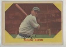 1960 Fleer #30 Chuck Klein Baseball Card