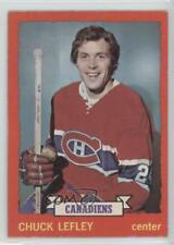 1973-74 O-Pee-Chee #44 Chuck Lefley Montreal Canadiens RC Rookie Hockey Card