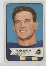 1954 Bowman #44 Volney Quinlan Los Angeles Rams RC Rookie Football Card