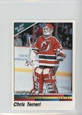 1990 Panini Album Stickers 68 Chris Terreri New Jersey Devils Rookie Hockey Card