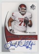 2010 SP Authentic #163 Trent Williams Oklahoma Sooners RC Rookie Football Card