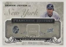 2008 Upper Deck A Piece of History Franchise #FH-39 Derek Jeter New York Yankees