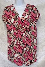 Duo Maternity Womens Top V-Neck Printed size M NEW