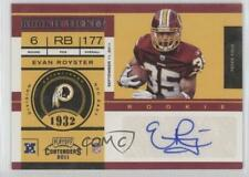 2011 Playoff Contenders 133 Evan Royster Washington Redskins Auto RC Rookie Card