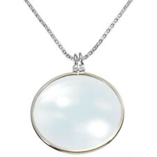 Monocle Lens Necklace With 6x Magnifier Coin Magnifying Glass Pendant Cheap New