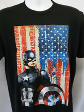 PATRIOTIC US FLAG Captain America T-shirt  (sizes) MARVEL LATEST!