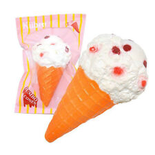Slow Rising Jumbo Squishy White Cone Mini Ice Cream Cute Scented Kids Toy Gifts