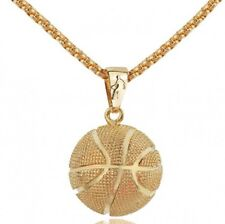 Fashion Stainless Steel Gold/Silver Men Women Basketball Charm Pendant Necklace