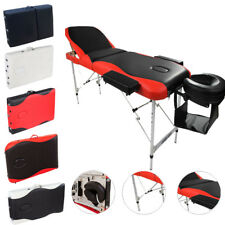 "Aluminum Multi-Colors Folding 3 Pad 84"" Portable Massage Table Facial SPA Bed 3W"
