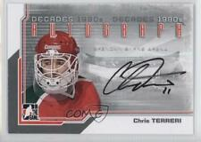 2013-14 In the Game Decades 1990s Autograph Silver #A-CT Chris Terreri Auto Card