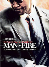 MAN ON FIRE (DVD, 2005, 2-Disc Set, Deluxe Edition) NEW