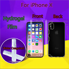 Clear Full Cover Soft Hydrogel Front/Back Screen Protector Film For iPhone X Lot