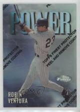 1997 Topps Finest Refractor #120 Robin Ventura Chicago White Sox Baseball Card
