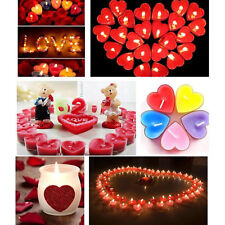 10 pcs/box Heart Scented Candle Romantic Decoration Smokeless Tealight Candle