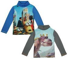 Boys Despicable Me Minions Turtle Roll Neck Long Sleeve Top 3 to 8 Years