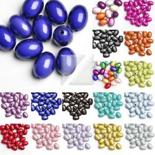 10pcs/25pcs Acrylic Beads Oval Miracle Illusion Spacer 19x13.5x13.5mm/11x8x8mm