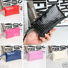 Fashion Women Crocodile Leather Handbag Clutch Bag Zipper Coin Purse Long Wallet