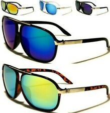 NEW SUNGLASSES BLACK MENS LADIES BOYS SPORTS DESIGNER RETRO MIRRORED AVIATOR BIG
