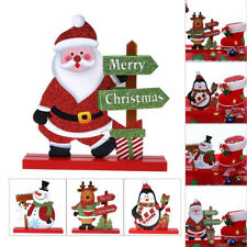 Santa Claus Snowman Christmas Room Xmas Home Decor Table Ornament Craft Gifts TR