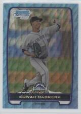 2012 Bowman Chrome Prospects Redemption Refractor Blue Wave #BCP64 Edwar Cabrera