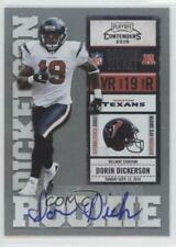 2010 Playoff Contenders 133 Dorin Dickerson Houston Texans Auto RC Football Card
