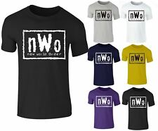 New Mens Wrestling NWO New World Order Wrestling RAW WCW Cotton T-Shirt Top
