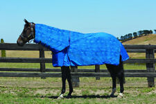 Weatherbeeta Unlined Canvas Combo Horse Rug in Blue in Blue