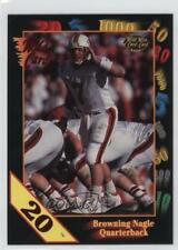 1991 Wild Card Draft 20 Stripe #64 Browning Nagle Louisville Cardinals Football