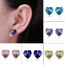 Fashion Crystal Rhinestone Heart Stud Earrings Ear Women Jewelry Family Gift New