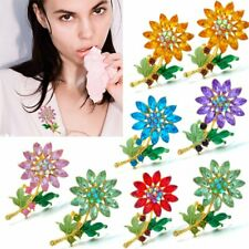 Fashion Crystal Rhinestone Flower Wedding Bouquet Brooch Pin Women Jewelry Gift