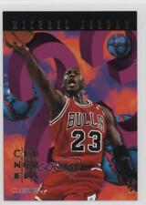 1995-96 NBA Hoops # Crunchers 1 Michael Jordan Chicago Bulls Basketball Card