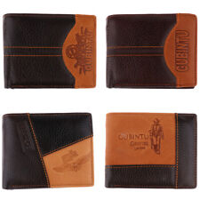 Mens PU Leather Stitching Money Clip Wallets ID Credit Card Cash Holder